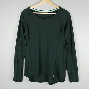 The North Face Dark Green Long Sleeve Tee Top